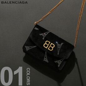 ポイント10倍■BALENCIAGA (バレンシアガ) ロゴ スパンコール チェーン ショルダーバッグブランド レディース カジュアル 女性 ファッション 小物 鞄 クラッチ 小さい ウォレット BCL5615079JAE4