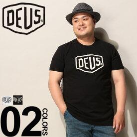 Tシャツ 半袖 大きいサイズ メンズ 綿100% フロントロゴ クルーネック ホワイト/ブラック 1XL 2XL Deus Ex Machina デウスエクスマキナ 大きいサイズtシャツのサカゼン