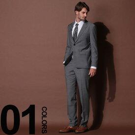 HUGO BOSS (ヒューゴ ボス) ウール100% ミニドット シングル 2ツ釦 スーツ GRAYブランド メンズ 男性 紳士 ビジネス フォーマル ウール シングルスーツ ドット ノータック HBRJS10205448