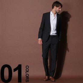 HUGO BOSS (ヒューゴ ボス) ウール100% ミニドット シングル 2ツ釦 スーツ NAVYブランド メンズ 男性 紳士 ビジネス フォーマル ウール シングルスーツ ドット ノータック HBRJS10205448