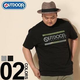 Tシャツ 半袖 大きいサイズ メンズ 迷彩ラインロゴ クルーネック グレー/ブラック 3L 4L 5L 6L OUTDOOR PRODUCTS アウトドアプロダクツ 大きいサイズtシャツのサカゼン