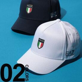 アルマーニ 帽子EMPORIO ARMANI EA7 (エンポリオ アルマーニ イーエーセブン) ITALIA プリント コットン ベースボールキャップブランド メンズ 男性 カジュアル ファッション 小物 シンプル 帽子 スポーティー 5パネル EA275791CC914