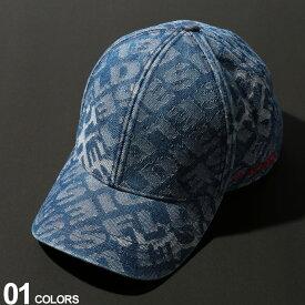 DIESEL (ディーゼル) 綿100% 総ロゴ デニム キャップブランド メンズ 男性 カジュアル ファッション ストリート 帽子 コットン スナップバック DSSHMPNAUH