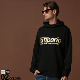 アルマーニ パーカーアルマーニ トップス メンズ EMPORIO ARMANI (エンポリオ アルマーニ) ゴールドロゴ プルオーバー パーカーブランド メンズ 男性 カジュアル ファッション トップス かぶり プルパーカー 裏毛 長袖 EA6G1MF81J07Z