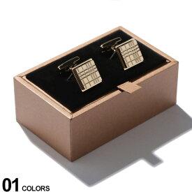 BURBERRY (バーバリー) パラジウムプレート チェックエングレイブ スクエア カフリンクス GOLDブランド メンズ 男性 紳士 ビジネス 小物 ギフト プレゼント アクセサリー カフスボタン BB8015272F9