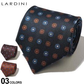 LARDINI (ラルディーニ) シルク100% 小花柄 ネクタイブランド メンズ 男性 紳士 ビジネス 小物 ギフト プレゼント ラッピング 贈り物 タイ シルク LDCRC8IL53114