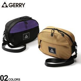 ショルダーバッグ 大きいサイズ メンズ 撥水加工 ロゴ 横型 カジュアル ファッション 小物 鞄 コンパクト 斜め掛け アウトドア ベージュ/パープル GERRY ジェリー