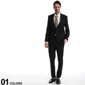 エントリーでポイント3倍■Calvin Klein (カルバン クライン) ストレッチ ウール100% 無地 シングル 2ツ釦 スーツ SLIM FITブランド メンズ 男性 紳士 ビジネス フォーマル ノータック シングルスーツ 細身 伸縮 CKMABRY5FY0111