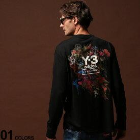 Y-3 (ワイスリー) バックフローラルブーケプリント クルーネック 長袖 Tシャツ TOKETA PRINTブランド メンズ 男性 カジュアル ファッション トップス シャツ ロンT アディダス コットン Y3FJ0416