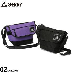 メッセンジャーバッグ 大きいサイズ メンズ 撥水加工 ロゴ ミニ ファッション カジュアル バッグ 鞄 アウトドア コンパクト ブラック/パープル GERRY ジェリー