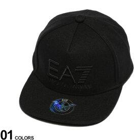 EMPORIO ARMANI EA7 (エンポリオ アルマーニ イーエーセブン) 3Dロゴ刺繍 アジャスター ベースボール キャップブランド メンズ 男性 帽子 キャップ ベースボールキャップ ロゴ スポーツ 6パネル EA2758889A502