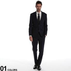 HUGO BOSS (ヒューゴ ボス) ストレッチ ウール混 無地 シングル 2ツ釦 スーツ REGULAR FITブランド メンズ 男性 紳士 スーツ ビジネス フォーマル シングルスーツ ノータック シンプル スリム 細身 ストレッチ 伸縮 HBRJS10215458
