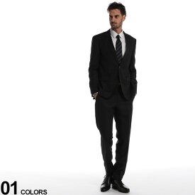 HUGO BOSS (ヒューゴ ボス) ウール100% マイクロジャガード シングル 2ツ釦 スーツ REGULAR FIT BLACKブランド メンズ 男性 紳士 スーツ ビジネス フォーマル シングルスーツ ノータック シンプル 無地 レギュラーフィット HBRJS10198644