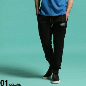 DIESEL (ディーゼル) 綿100% ロゴプリント スウェット ロングパンツ BLACKブランド メンズ 男性 ボトムス パンツ ロングパンツ スエット スウェット 裏毛 ストリート 部屋着 ルームウェア DSSZLBBAWT