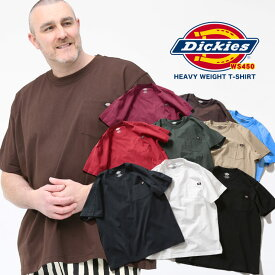 Tシャツ 半袖 大きいサイズ メンズ 綿100% 無地 ポケット クルーネック ホワイト/グレー/ブラック/マスタード/グリーン/ネイビー 1XL 2XL 3XL 4XL 5XL 6XL ディッキーズ Dickies 大きいサイズtシャツのサカゼン