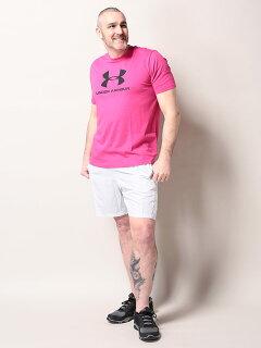 heatgearLOOSEロゴプリントクルーネック半袖TシャツLOGO