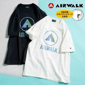 半袖 Tシャツ 大きいサイズ メンズ 消臭抗菌 天竺 クルーネック コットン ホワイト/ブラック 3L 4L 5L AIRWALK エアウォーク