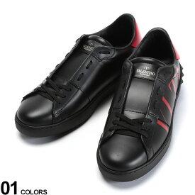 VALENTINO (ヴァレンティノ) レザー ロゴプリント スタッズ ローカットスニーカーブランド メンズ 男性 シューズ 靴 スニーカー レザースニーカー 革 スタッズ プリント バイカラー VLRY2S08300SM