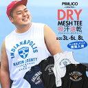タンクトップ 大きいサイズ メンズ DRYメッシュ プリント ノースリーブ Tシャツ ドライ 吸汗速乾 3L 4L 5L 6L 7L 8L PIMLICO ピムリコ 大きいサイズメンズ 夏服のサカゼン