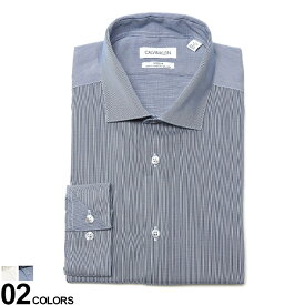 最大2000offクーポン配布中■Calvin Klein (カルバン クライン) ストレッチ ノーアイロン ホリゾンタルカラー 長袖 ドレスシャツ SLIM FITブランド メンズ 男性 紳士 ビジネス シャツ ワイシャツ フォーマル 長袖シャツ きれいめ CK33K3767