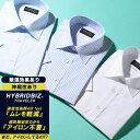 半袖 ワイシャツ 大きいサイズ メンズ ビジネス 超形態安定 綿100% 汗ジミ防止 ワイドカラー RELAX BODY ホワイト/ブ…