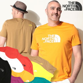 ノースフェイス tシャツ 大きいサイズ メンズ 半袖Tシャツ 綿100% クルーネック EASY TEE コットン ホワイト/ブラック/レッド/オレンジ/ベージュ/イエロー/グリーン/サックス/パープル 1XL-2XL THE NORTH FACE ザ ノースフェイス