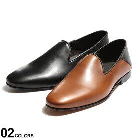 Dino Draghi (ディーノ ドラーギ) レザー シンプル スリッポン シューズブランド メンズ 男性 シューズ 靴 フォーマルシューズ 革靴 レザー カジュアル ビジネス 紳士 黒 茶色 DDPH208908