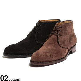Cordwainer (コードウェイナー) スエード レースアップ チャッカブーツブランド メンズ 男性 シューズ 靴 ブーツ ショート 紐靴 革靴 フォーマル 秋 冬 黒 レザーブーツ CWIMANOL219