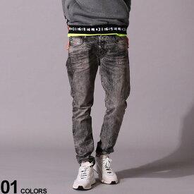 DIESEL (ディーゼル) ダメージ ジップフライ ジーンズ D-STRUKTブランド メンズ 男性 ボトムス パンツ ロングパンツ ジーンズ デニム ストリート ダメージ テーパード DSDSTRUKT09EV