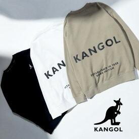 大きいサイズ メンズ KANGOL (カンゴール) 長袖スウェット 3L 4L 5L 6L バックロゴ クルーネック 長袖 スウェット トレーナー トレーナー スウェット 裏毛 プルオーバー プリント クルー 長袖 C6051N