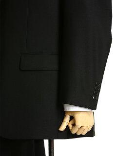 礼服・メンズ・大きいサイズ・フォーマルスーツ・ウール混無地シングル2ツ釦ウエストアジャスタースーツ