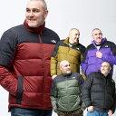 ダウンジャケット 大きいサイズ メンズ スタンド フルジップ M DIABLO DWN JKT 700フィル 防寒 アウトドア ブラック/カーキ 1XL-2XL THE NORTH FACE ザ ノー