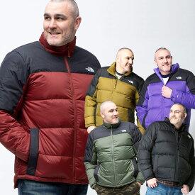 ダウンジャケット 大きいサイズ メンズ スタンド フルジップ M DIABLO DWN JKT 700フィル 防寒 アウトドア ブラック/カーキ 1XL-2XL THE NORTH FACE ザ ノースフェイス