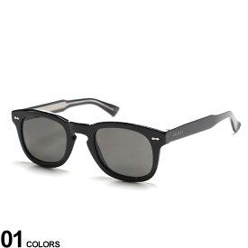 GUCCI (グッチ) ロゴ ウェリントン サングラスブランド 男性 メンズ 眼鏡 サングラス アイウェア UVカット 日よけ 夏 レジャー ギフト プレゼント GC0182S001
