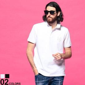 MONCLER (モンクレール) 胸ロゴ刺繍 半袖 ポロシャツブランド メンズ 男性 トップス シャツ ポロシャツ ポロ 春 夏 コットン シンプル 半袖 MC8A7290084556