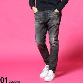 DIESEL (ディーゼル) ダメージ加工 ジップフライ ジーンズ D-VIDER Jogg Jeansブランド メンズ 男性 ボトムス パンツ ロングパンツ ジーンズ デニム ストレッチ ストリート DSDVIDERT077S