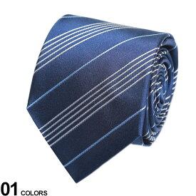 Aquascutum (アクアスキュータム) シルク100% 細ライン ストライプ ネクタイ NAVYブランド メンズ 男性 紳士 ビジネス ネクタイ シルク 絹 フォーマル 柄 ギフト プレゼント AQSS3281