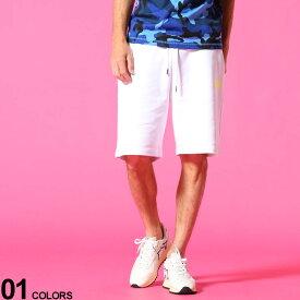 DIESEL (ディーゼル) ワンポイントロゴ スウェット ショートパンツブランド メンズ 男性 ボトムス パンツ ショートパンツ ショーツ スポーツ スエット 裏毛 ストリート DSA02465BAWT