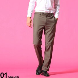Calvin Klein (カルバンクライン) ウォッシャブル ストレッチ ノータック 無地 スラックスブランド メンズ 男性 紳士 ボトムス スラックス ロングパンツ ビジネス フォーマル きれいめ CKJINNYJ70021