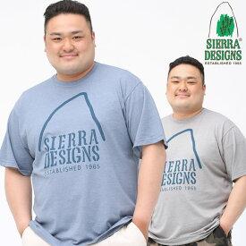 最大2000円offクーポン配布中■半袖 Tシャツ 大きいサイズ メンズ ビックロゴクルーネック ロゴ プリント シンプル アウトドア グレー/ブルー XLサイズ LL 2L 3L 4L 5L 6L SIERRA DESIGNS シエラデザイン