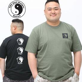 半袖 Tシャツ 大きいサイズ メンズ 綿100% バックロゴ クルーネック コットン スポーツ ブラック/カーキ XLサイズ 3L 4L 5L T&C Surf Designs ティーアンドシーサーフデザイン
