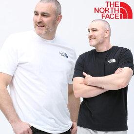半袖 Tシャツ 大きいサイズ メンズ 綿100% ワンポイント クルーネック コットン アウトドア ホワイト/ブラック 1XL-3XL THE NORTH FACE ザ ノースフェイス