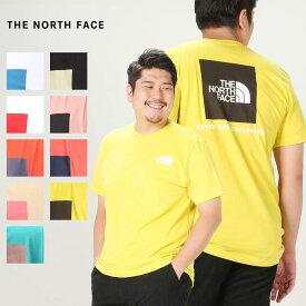 半袖 Tシャツ 大きいサイズ メンズ 綿100% クルーネック BOX NSE TEE コットン アウトドア ホワイト/ブラック/ベージュ/オリーブ 1XL-3XL THE NORTH FACE ザ ノースフェイス