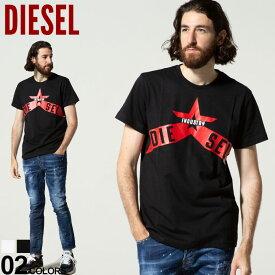 DIESEL (ディーゼル) スターロゴ クルーネック 半袖 Tシャツブランド メンズ 男性 トップス Tシャツ 半袖 シャツ プリント DSSW9TCATM
