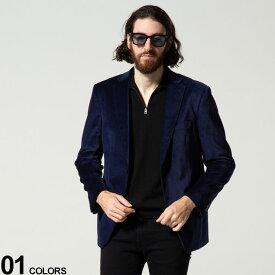 Calvin Klein (カルバンクライン) ベロア 千鳥柄 シングル 2ツ釦 ジャケットブランド メンズ 男性 アウター ジャケット テーラード CKMBDG7J40122