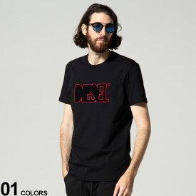 DIESEL (ディーゼル) ロゴ刺繍 クルーネック 半袖 Tシャツブランド メンズ 男性 トップス Tシャツ 半袖 シャツ DSA02989PATI