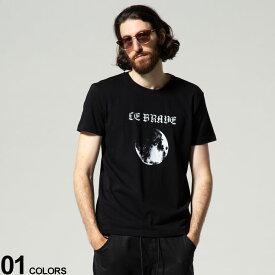 DIESEL (ディーゼル) プリント クルーネック 半袖 Tシャツ MOONブランド メンズ 男性 トップス Tシャツ 半袖 シャツ DSA02804GRAA