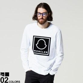 MONCLER (モンクレール) フロントロゴ クルーネック 長袖 Tシャツブランド メンズ 男性 トップス Tシャツ ロンT 長袖 MC8D000028390T