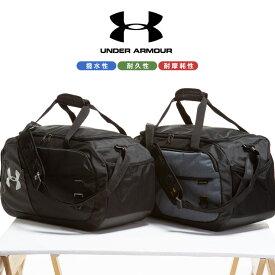 ボストンバッグ 大きいサイズ メンズ STORM ショルダー ボストンバッグ UNDENIABLE 4.0 DUFFLE M 撥水 スポーツ トレーニング グレー/ブラック UNDER ARMOUR アンダーアーマー