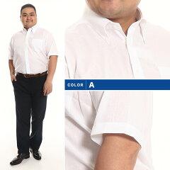 HYBRIDBIZTRAVELER綿麻超形態安定半袖シャツ